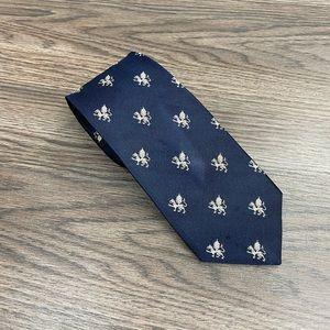 Brooks Brothers Navy w/ White Dragon Skinny Tie